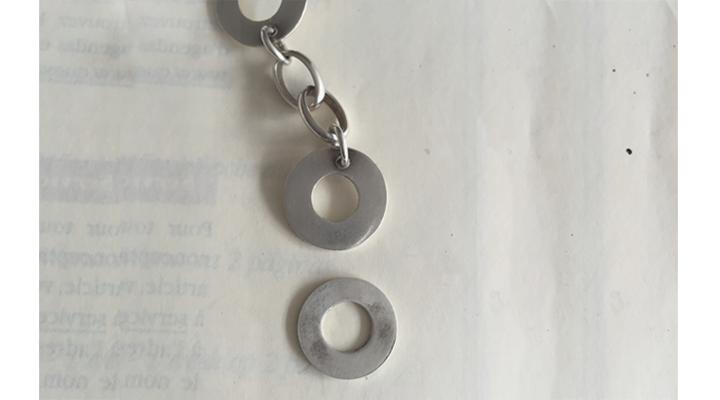 detail of Odette Selva's necklace