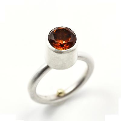 madeira citrine sterling silver ring