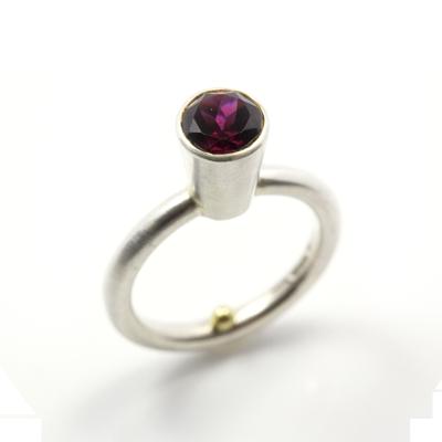 rhodolite garnet sterling silver ring