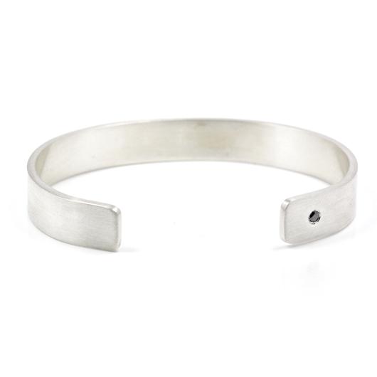 black diamond argentium silver bracelet