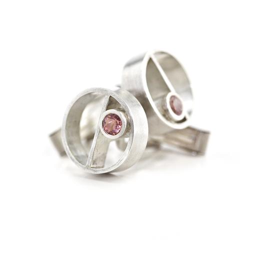 pink tourmaline cufflinks