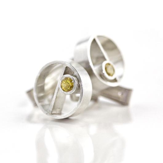 yellow sapphire cufflinks