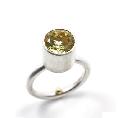 lemon topaz sterling silver ring