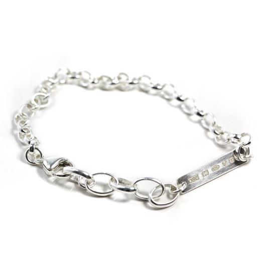 man's silver chain bracelet