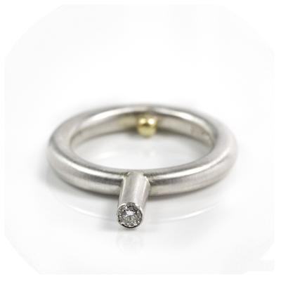 white diamond sterling silver ring