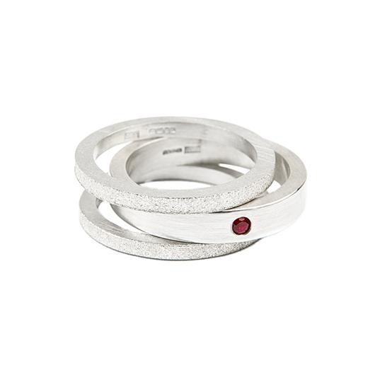 stacking rings, ruby