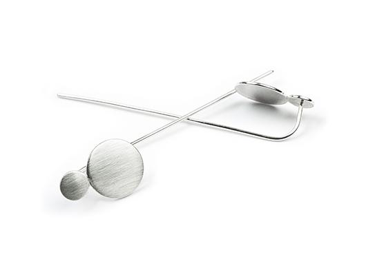 sterling silver pole earrrings